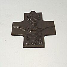 Sammlungsauflösung religiöse Volkskunst hochwertiges Kreuz Wandkreuz Bronze (34)