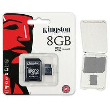 Kingston 8GB Micro SD SDHC Class 4 microSD Flash Memory Card SDC4/8GB + CASE