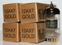 Matched Quad Electro Harmonix 12AX7 / ECC83 Gold Pin tubes, Brand NEW in Box !