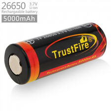 1Pcs Trustfire 26650 5000mAh Protected Rechargeable Battery For Flashlight Torch