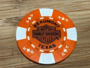 Harley Davidson Poker Chip Beaumont Texas