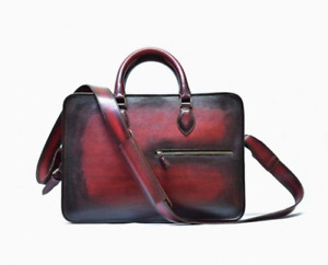 Leather Maroon Patina Briefcase