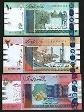 Sudan 3 Pcs Set , 10 20 50 Dinars , 2017 2018 , UNC