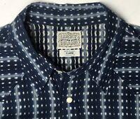 Lucky Brand Western Wear Shirt Sawtooth Pockets Pearl Snap L/S Geometric Mens XL