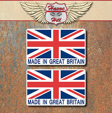Made in Great Britain Stickers 2x 60x36mm Car Motorbike Union Jack Decal