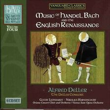 Alfred Deller, A. De - Music of Handel Bach & the English Renaissance 4 [New CD]