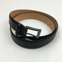 NEW Men's Kirkland Signature Black Italian Full-Grain Leather Belt
