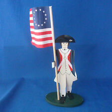 Edna Oar Young Shadowdancer folk art Americana Revolutionary War Soldier Flag