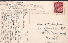 Genealogy Postcard - Family History - Simpson - St Andrews Park - Bristol  U1911