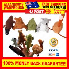 5pcs Aussie Animal Finger Puppets Koala Kangaroo Emu Platypus Crocodile Puppet