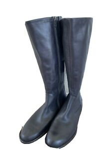 NEW Born North Riding Black Leather Knee High Riding Boots Women's Size 8M NEW