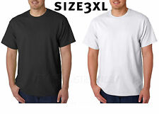 50 T-SHIRTS Blank 25 Black 25 White BULK LOT XXXL PLAIN Wholesale  3XL