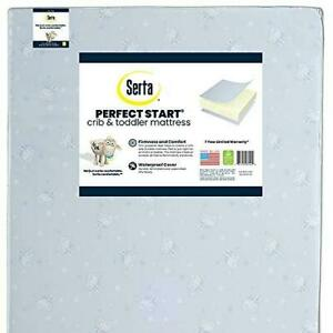 Serta Perfect Start Dual Sided Premium Recycled Fiber Core Crib and Toddler