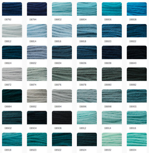Anchor Coats Tapisserie Needlepoint Tapestry Wool - 10m & 20g Hanks 8792-8934