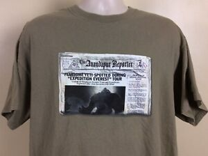 Vtg 2006 Disney World Expedition Everest T-Shirt Green XL 2000s
