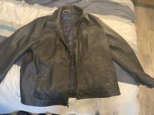 Men's Tommy Hilfiger Black leather Jacket Sz XL
