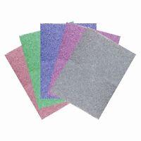 10 Sheets of A5 Premium Glitter Foam Assorted Colours Scrapbooking Crafts Paper