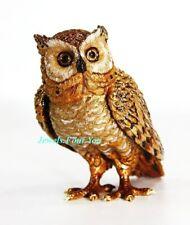 JAY STRONGWATER HIGHLAND FLING OSGAR OWL FIGURINE SWAROVSKI NEW $895 MADE IN USA