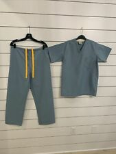 Medline Encore Unisex Scrub Top & Pants Set Size Xs Misty (Brand New But Washed)