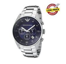 Reloj de cuarzo nuevo Emporio Armani AR5860 Acero Inoxidable Reloj para hombres esfera azul reino unido