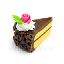 Miniature CIOCCOLATO Covered fatto a mano singola fetta di torta