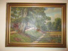 ***** Antikes Ölbild, 112 x 80 cm, handsigniert mit Originalrahmen, *****