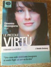 Le piccole virtù legge Giovanna mezzogiorno Natalia Ginzburg audiolibro 3 cd