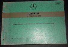Mercedes Unimog OM 352 - 353 Motor-Ersatzteilliste