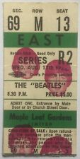 Beatles Original Used Concert Ticket Maple Leaf Gardens Toronto 1966