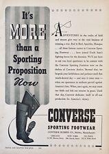 1942 AD.(XG25)~CONVERSE RUBBER CO. MALDEN, MASS. CONVERSE SPORTING FOOTWEAR
