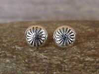 Native American Indian Jewelry Sterling Silver Post Earrings - Gloria Harvey