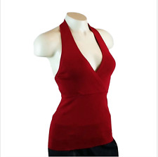 Ann Taylor LOFT Halter Ruby Red Size: XS Rayon Knit