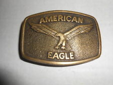 1978 SOLID BRASS AMERICAN EAGLE VINTAGE BELT BUCKLE JEANS WESTERN ROCK ROLL