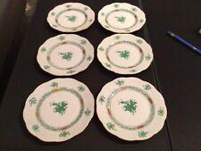 Herend Apponyi grün 6 Teller passend zu Moccatassen DM 16,5 cm super Zustand AV2