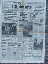 L'Humanité - (30 sept 1964) Prisonnier Burgos -Salon Auto -Harpo Marx - Marielle