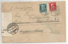 Baviera/mer. n. 96i + 97iia/10 + 20 PF. A. Bed. - ESTERO-lettera V. Monaco 7