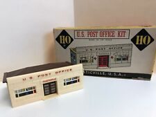 PLASTICVILLE US POST OFFICE HO SCALE Brown  ROOF VINTAGE MODEL with Box