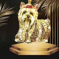 Mode Charm Halskette Tier Hund Diamant Halskette Anhänger Schmuc Neif #wl flYfE