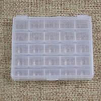 25Solts Plastic Empty Bobbins Spools Box Sewing Machine Bobbin Container Storage