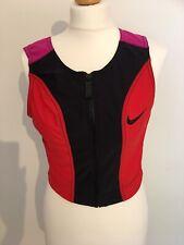 Ladies Vintage Nike Sport Shell Zip Up Sports Bra 80s 90s Uk 16-18 Retro Gym