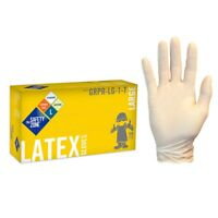 LATEX GLOVES SAFETY ZONE , LARGE, (100 GLOVES)