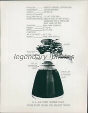 1965 US Air Force Second-Stage Engine Project Gemini Original News Service Photo