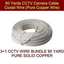 90 Yards CCTV Camera Cable Coxial Wire (Pure Copper Wire)
