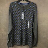 Hart Schaffner Marx merino wool Blend Charcoal Gray Heather XXL 2XL sweater c14