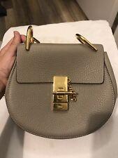 CHLOE Mini  drew Leather Shoulder Bag Motty Grey Retail 1650