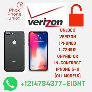 Verizon Unlocking Service Premium Iphone 5,6 Eleven, pro Max 7 7 Plus 8 8 Plus