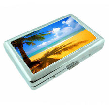 Fiji Islands D10 Silver Metal Cigarette Case RFID Protection Wallet Tropical