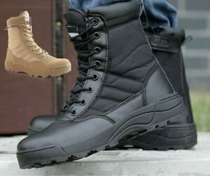 MENS TACTICAL ARMY COMBAT MILITARY OUTDOOR BOOTS UK SECURITY WORK POLICE SHOES