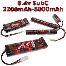 8.4V 3300-5000mAh SubC SC Premium Racing RC NiMh battery pack + custom connector