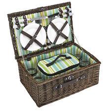 Picknickkorb für 4 Weidenkorb Picnic Kühltasche 21 Teile Piknikkorb braun